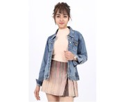 Miss Pinki Women Skylar Denim Jacket - Light Blue Wash