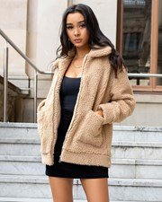 Ava And Ever Teddy Jacket Camel