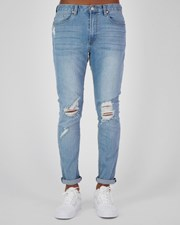 Black Palms The Tapered Slim Jeans Trashed Blue