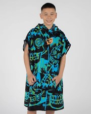 Creatures Of Leisure Grom Poncho Cyan Green