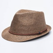 GET IT NOW Mimosa Fedora Hat Brown