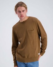 Rhythm Pocket Knit Sweatshirt Kelp