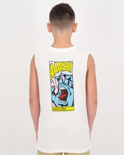 Santa Cruz Boys' Pop Hand Muscle Tank White