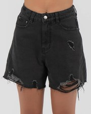 Used Nic Shorts Faded Washed Black