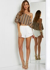Runaway The Label Duplicity Shorts - White