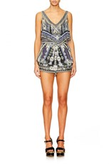Camilla TIE THE KNOT PLAYSUIT W TIERED OVERLAY