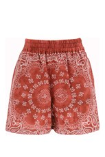 GOLDEN GOOSE CINDERELLA PAJIAMA SHORTS Red/White 01-ORRED