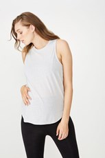 Body Maternity Active Curve Hem Tank Top GREY MARLE