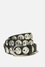 Rubi Wild Child Studded Belt BLACK W SILVER