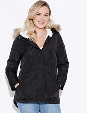 Crossroads Fur Hooded Parka BLACK