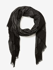 Crossroads Sequin Scarf BLACK
