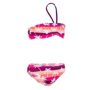Olaian Lali Girl's Two-Piece Bandeau Swimsuit Top Pink