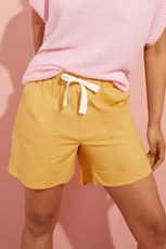 Emerge Linen Blend Drawstring Shorts 236621