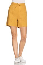 Emerge Linen Blend Seam Detail Shorts 235792