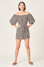 French Connection (Fcuk) ANIMAL OFF SHOULDER PLAYSUIT SUMMER ANIMAL
