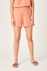 French Connection (Fcuk) COTTON CRINKLE SHORT BURNT ORANGE