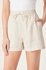 French Connection (Fcuk) FRENCH LINEN RELAXED SHORT OATMEAL