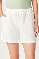 French Connection (Fcuk) FRENCH LINEN RELAXED SHORT WHITE