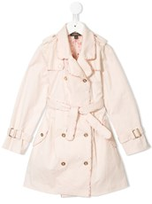 Velveteen Taylor pleated trench coat - 14911567