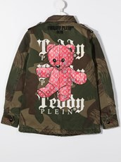 Philipp Plein Teddy Bear military jacket - 15793193