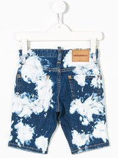 Dsquared2 acid wash denim shorts - 13559225