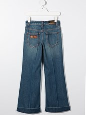 Gucci Kids bootcut denim jeans - 15700566