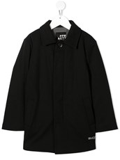 Paolo Pecora Kids concealed-front coat - 15853940