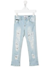 Philipp Plein distressed straight-leg jeans - 14967855