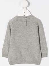 Il Gufo dog print knitted jumper - 15688367