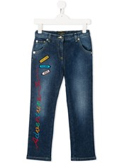 Dolce & Gabbana embroidered patch jeans - 14325408