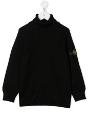 Stone Island logo roll-neck jumper - 15813922