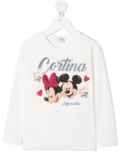 Monnalisa long sleeve Disney print t-shirt - 15724307