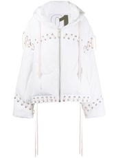Khrisjoy oversized lace-up puffer jacket - 14847339