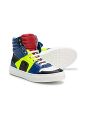 Philipp Plein panelled high top sneakers - 14968233