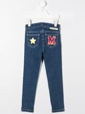 Stella Mccartney patchwork skinny jeans - 15583018