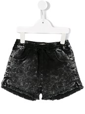 Andorine raw edge mini shorts - 11790519