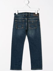 Emporio Armani Kids straight leg denim jeans - 13227477