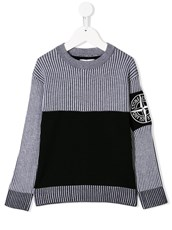 Stone Island two-tone ribbed jumper - 15002884