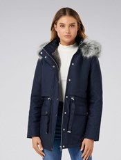 Forever New Arianna Parka Jacket Navy