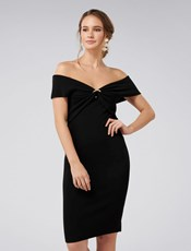 Forever New Odette Ring Knitted Dress Black