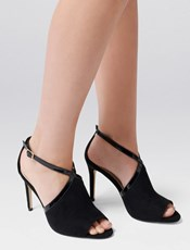 Forever New Sienna Peep Toe Stiletto Heels Black