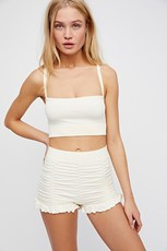 Intimately Ruched Seamless Shorts Ivory