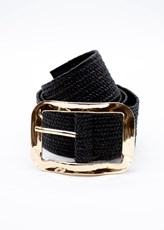 Gingham & Heels By Chance Belt - Black