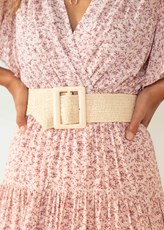 Gingham & Heels London Lights Belt - Cream