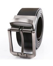 Giordano Reversible leather belt 09 Black