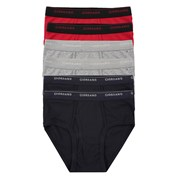 Giordano Solid classic briefs (6-packs) 49 Black/Grey/Red