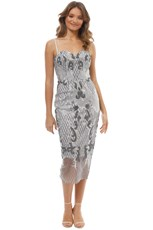 Tinaholy Couture Estrella Cocktail Dress - Silver (Used)