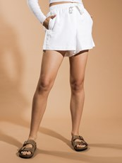Nude Lucy Classic Linen Shorts in White