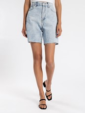 Articles Of Society Robyn Long Line Shorts in Vintage Light Blue