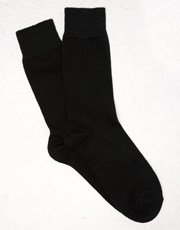 Kit Cotton Blend Dress Socks Black